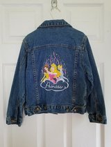 Disney Princesses Embroidered Jean Jacket, Girls 5 in Fort Campbell, Kentucky