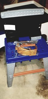kids toy workbench and bag of tools in Plainfield, Illinois