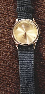 ladies watch nwot from maurice's denim band in Naperville, Illinois