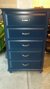 Navy blue dresser in Bolingbrook, Illinois