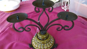 Wrought iron & ceramic candle holder in Byron, Georgia