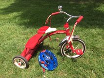 Radio Flyer Tricycle and helmet in Bolingbrook, Illinois