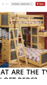 Twin bunk bed in Yucca Valley, California