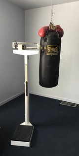 Punching Bag. w/ red boxing Gloves in Fort Bliss, Texas