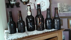 Vintage Amber Beer Bottles Grolsch & Mohr Bros. in Chicago, Illinois