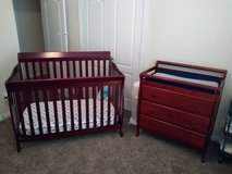 Crib & Changing Table Set in The Woodlands, Texas