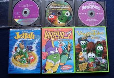Set of 6 Veggie Tales DVD's in Houston, Texas