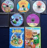 7 Veggie Tales DVD's in Houston, Texas