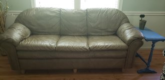 Free Leather Couch, Chair & Ottoman in Cleveland, Texas