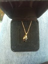 SD Black Hills Gold 10k and onyx necklace in Tacoma, Washington