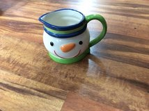 Snowman creamer in Chicago, Illinois