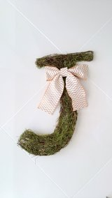 Moss Letter J Wall Sign Decor in Okinawa, Japan