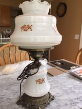 Hurricane Lamp - Milk Glass Floral Globes - NEW condition! in Cleveland, Ohio