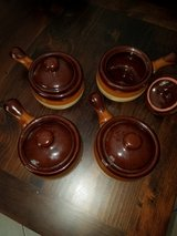 Set of 4 Stoneware Soup Bowls with Lids in Conroe, Texas