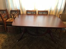 Double Pedestal Dining Table in Aurora, Illinois