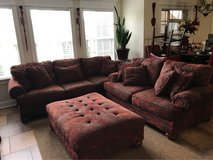couch, love seat, and ottoman in Warner Robins, Georgia