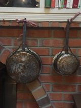Two Vintage Copper Pans w/ iron handle in Travis AFB, California