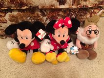 "Mickey & Minnie Mouse (15"" tall) AND Doc (12"") - 3 Plush Disney Dolls in Cherry Point, North Carolina"