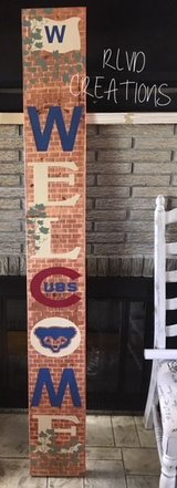 CHICAGO CUBS BRICKS AND IVY WELCOME SIGN in Joliet, Illinois