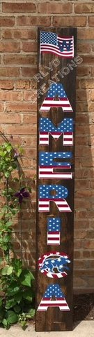 CHICAGO CUBS AMERICA WELCOME SIGN *ALL HAND PAINTED* in Joliet, Illinois