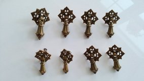 8 Drawer Pulls From Antique Dresser in Okinawa, Japan