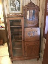 ANTIQUE OAK SECRETARY BOOKCASE in Fort Riley, Kansas