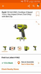 Ryobi 3 speed impact & battery charger in Plainfield, Illinois