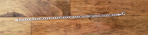 Sterling silver Figaro bracelet in 29 Palms, California