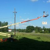 50' Man Lift Rental with automatic Leveling System in Leesville, Louisiana