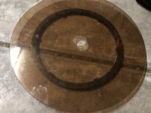 Glass lazy Susan for patio table in Aurora, Illinois