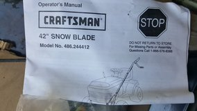 "Craftsman 42"" snow blade in Elgin, Illinois"