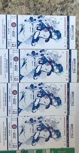 CUBS tickets (quantity 4 ) and 2 parking passes in Oswego, Illinois