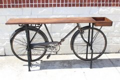 Atlas bike Side Table / wood / metal/ great condition in Kingwood, Texas