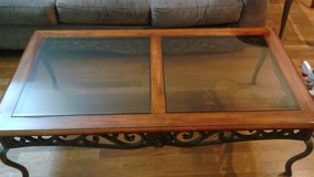 Plunkett Wooden, Metal & Glass Coffee & End Table in Schaumburg, Illinois