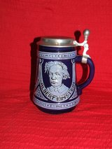 Einstein Hahn 1979 Original M&R Jahresseidel Ceramic Lidded Stein / Certificate in Westmont, Illinois