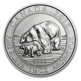 2015 Canada 1.5 oz Silver Polar Bear & Cub BU in Leesville, Louisiana