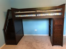Twin Bunk Bed with Stairs in Elgin, Illinois