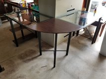 Wrap around glass table or it's a desk in Warner Robins, Georgia