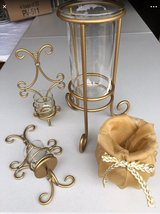 LOT of 4 GOLD Home Wall Sconce Vase Decor in Naperville, Illinois