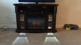 """Electric fireplace/ 55"""" Tv stand in Fort Gordon, Georgia"""