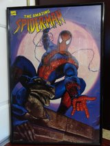 1996 THE AMAZING SPIDER-MAN PRINTS PLUS POSTER in LARGE BLACK FRAMED in Fairfield, California