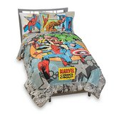 Vintage Marvel Comics Complete Bedding Ensemble Full Size in Naperville, Illinois