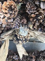 Large Pinecone Wreath in St. Charles, Illinois