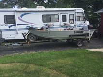 14 ft Lowe Aluminum boat 2011 with 2013 Caravan Trailer in Glendale Heights, Illinois