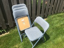 Samsonite Padded Folding Chairs (4) in Glendale Heights, Illinois
