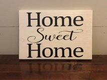 Wooden sign home sweet home in Fort Bragg, North Carolina
