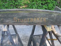 Studebaker wagon seat in The Woodlands, Texas