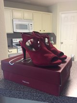 Red Suede High Heeled Sandal sz 6 new in Spring, Texas