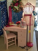 Pink Painted Wood Desk & Chair #1594-2965 in Wilmington, North Carolina