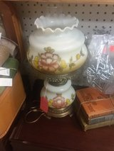 Beautiful double globe lamp with peach flower in Perry, Georgia